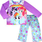 new kids Girls My Little Pony winter pyjama pjs fleece sets size 4-8 sleepwear