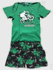 Pyjamas Boys Summer (sz 8-14) Pjs Set Green BMX Bike Rider Sz 8 10 12 14