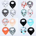 4Pcs/Lot Cotton Infant Saliva Towel Baby Burp Bandana Bib Kids Triangle Scarf
