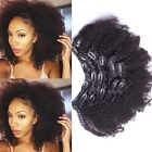 "16""-24""Brazilian Virgin Hair Afro Kinky Curly Clip In Human Hair Extensions"