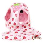 Strawberry Dog Harness for Small Medium Dogs Comes Matching lead Soft Step in