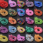 HOT 4mm 6mm 8mm Bicone Faceted Lacquer Loose Spacer Glass Colorful Beads Lots
