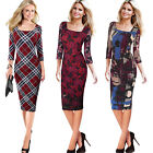 Womens Elegant Vintage Casual Party Special Occasion Sheath Bodycon Dress 4463