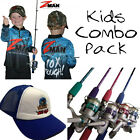 KIDS Fishing Combo Pack - Zman Tournament KIDS Shirt + Tackle Rats Combo + Hat