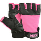 MRX Weight Lifting Gloves Gym Training Women Fitness Genuine Leather Glove, Pink