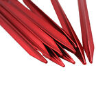 """10 PCS Aluminium Alloy 7"""" Red Camping Trip Tent Pegs Stake Nail Red"""