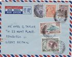 Cyprus 1957 Air Mail from Nicosia to Sotland.