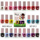 Miss Nella Double Pack Non Toxic, Odour Free, Peel Off Kids Nail Polish 4ml