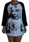 Unisex Blondie Debbie Harry Raglan 3/4 Length Sleeve Baseball T-Shirt Jumper