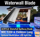 Water Wall Blade - Pool Water Wall Spillway Blade 135mm Lip Acrylic