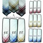 PERSONALISED HANDKERCHIEF 100% COTTON EMBROIDERED ANY NAME INITIALS HANKIES MENS