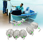 5Pcs New Outdoor Fishing Bait Trap Cage Feeder Basket Holder Fishing Lures