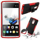 Hybrid Rubber ShockProof Protective Hard Case Stand Cover For Lenovo Phone Model