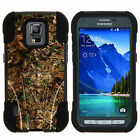 For Samsung Galaxy S5 Active G870 Hybrid Case Dual Layer Protection + Kickstand