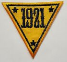 """NJSP New Jersey State Police 1921 Triangle Embroidered Cloth Patch 2"""" Tall"""