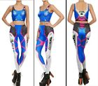 Overwatch D. Va DVA Cosplay Costume Stretchy Vest Pants Camisole Leggings Polyes