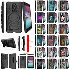 For ZTE Carry Z981 Durable Holster Clip Protective Armor Case Built-in Kickstand