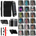 For HTC Desire 530 Heavy Duty Protective Case Holster Belt Clip + Kickstand