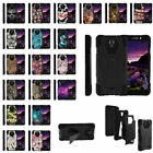 For ZTE Maven 2 Z831 Dual Layer Shell Shock Impact Case + Built-in Kickstand