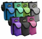 """Showman Insulated BOTTLE CARRIER with 3.5"""" Front Pocket Great for Cell Phone"""