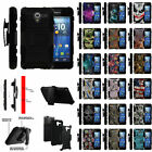 For Kyocera Hydro View  Reach  Shore Dual Layer Shockproof Clip Kickstand Case
