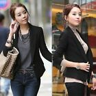 Fashion Women's Single-breasted Blazer Casual Suits Jacket Outerwear Black Top