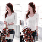 New Fashion Women lady Slim Top Long Sleeve T Shirt Blouse Nice