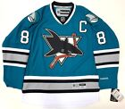 JOE PAVELSKI SAN JOSE SHARKS 25TH ANNIVERSARY REEBOK NHL PREMIER JERSEY NEW