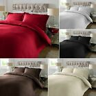 Satin Stripe 300 TC Egyptian Cotton Duvet Quilt Cover Set With Oxford Pillowcase
