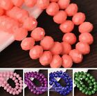 Wholesale Lot 4mm 6mm 8mm 10mm Rondelle Faceted Loose Spacer Glass Beads Crafts