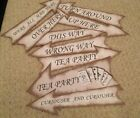 alice in Wonderland Party Signs birthday/Wedding decorations