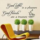 KITCHEN WALL STICKERS Good Coffee WALL QUOTES WALL QUOTE STICKER DECAL  N72