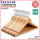 Wooden Coat Hangers Wood Bulk Clothes Clothing Coathangers Garment Shirt Suit