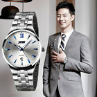 Wristwatch 30M Resistant Quartz Movement Men Dress Calendar Stainless Steel