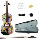 Kinglos 4/4 Full Size Cold-Rock Colored Ebony Fitted Solid Wood Violin Kit