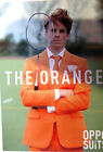 Oppo Suit Orange Costume Jacket Tie Pants Prom Party Halloween Austin Powers NIB