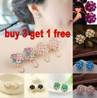 Fashion Women Lady Fashion Elegant Crystal Rhinestone Ear Stud Earrings 1 Pair