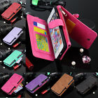 Luxury Genuine Leather Flip Wallet Phone Case Cover for iPhone SE 6 6s 7 Plus