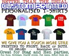 Personalised custom printed Unisex Fun, Holiday, Company, Hen or stag tee shirt