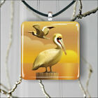 BIRD PELICAN SUNSET GOLD AMBIANCE PENDANT NECKLACE 3 SIZES CHOICE -jft5Z