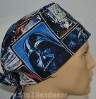 STAR WARS Painted Characters TRADITIONAL Tie Back Unisex Surgical Scrub Hat Cap $13.99 USD