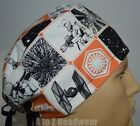 STAR WARS The Force Awakens Orange Grid TRADITIONAL Unisex Surgical Scrub Hat $15.5 USD