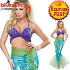 CA140 Mythic Mermaid Sea Princess Ariel Ladies Fancy Dress Up Costume Outfit