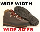 WIDE Timberland MEN'S CLASSIC LEATHER EURO HIKER Brown Ankle Shoes BOOTS #6534A