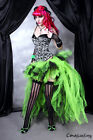 Tutu Skirt Fancy Dress Festival Party Gothic Steampunk Red & black 20-30 Plus sz