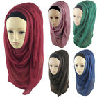 New Plain Hijab Scarf Fashion Large Maxi Shawl Headscarf Womens ladies