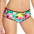 Freya Swimwear Tribal Trax Bikini Short/Bottoms Neon 3793 NEW