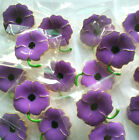 Wholesale Purple Enamel Badge Flowers Poppy Brooches Pins Remembrance Day Gifts