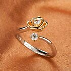 Golden Gift Top Princess Crystal Fashion Zircon Ring Silver Plated Crown Shape