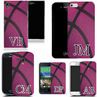 PERSONALISED INITIALS CASE FOR HUAWEI MOBILES - pink basketball MONOGRAM